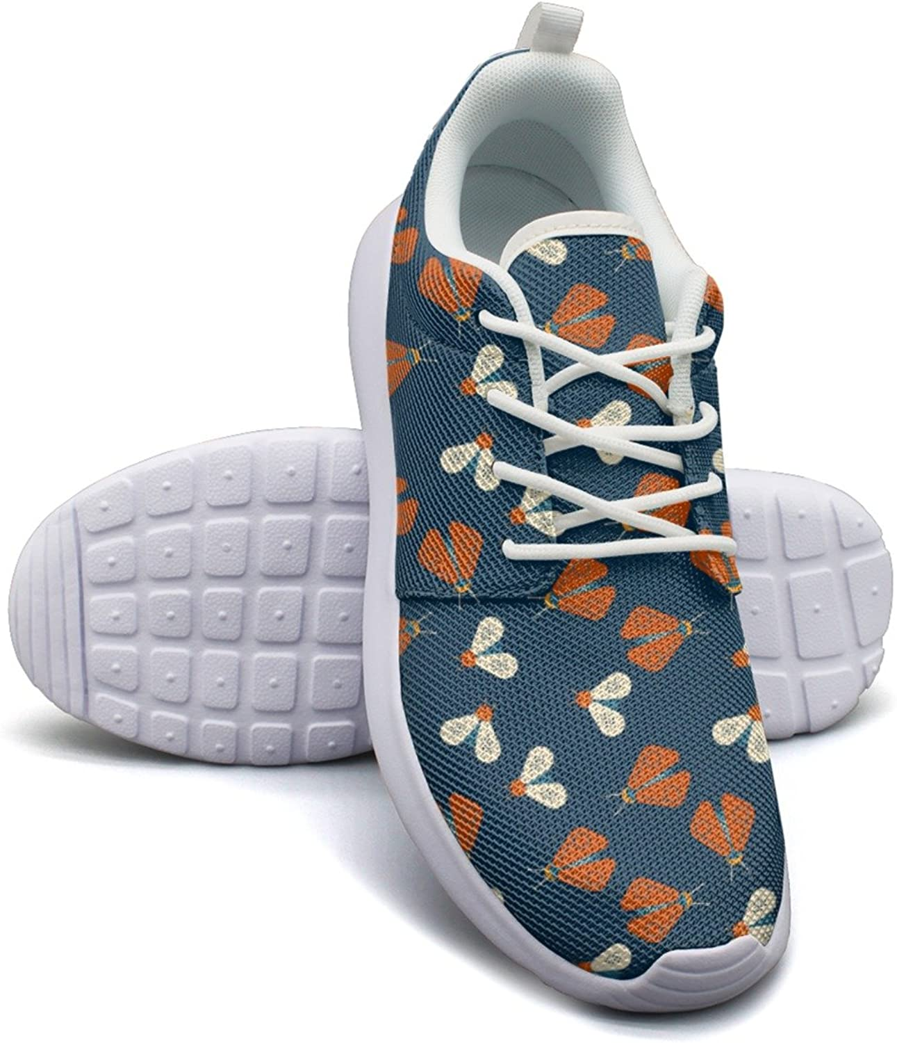 Eoyles gy Firefly and Bee Geometric Woman Slip Resistant Lightweight Running Athletic shoes
