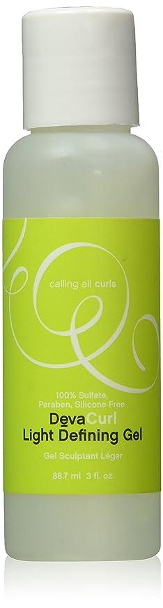 キモい処方する木製DevaCurl 光保湿と定義ジェル、3液量オンス 3オンス