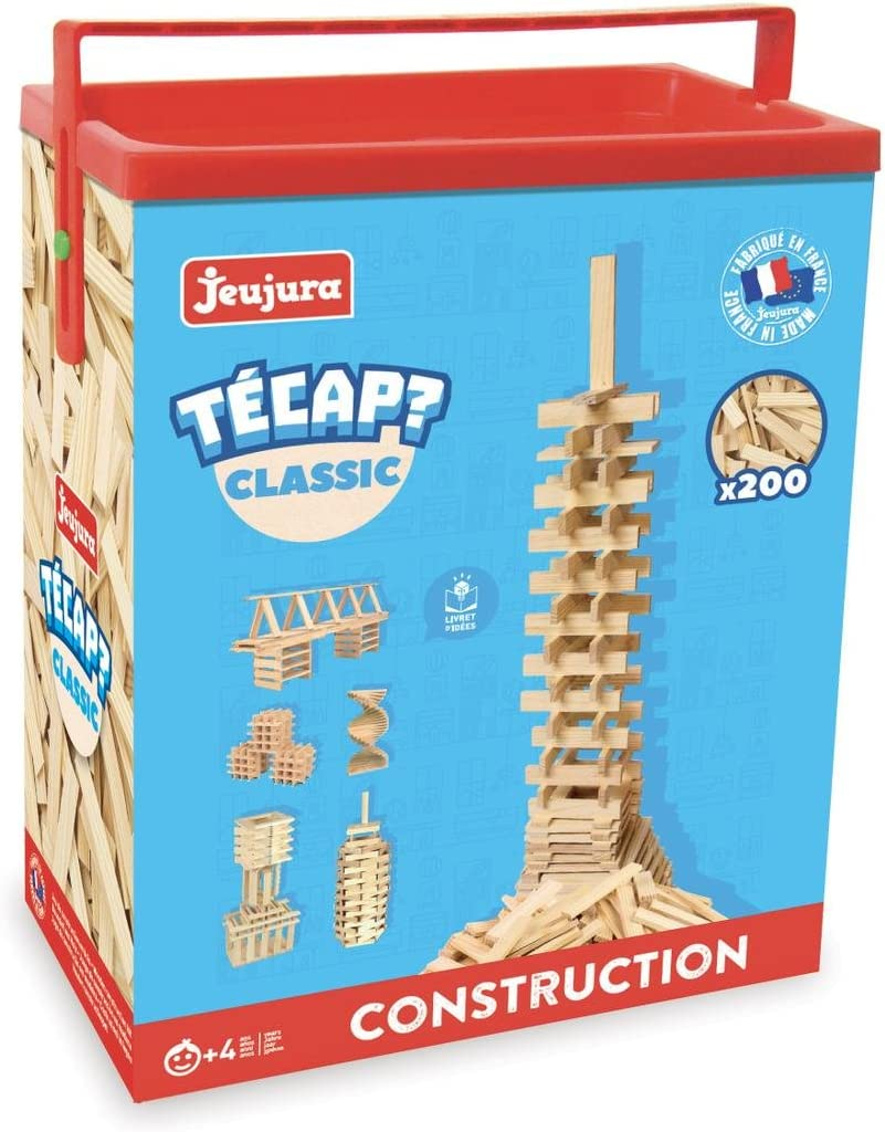Jeujura 8332 - Juego de construcción de Madera (200 Piezas)