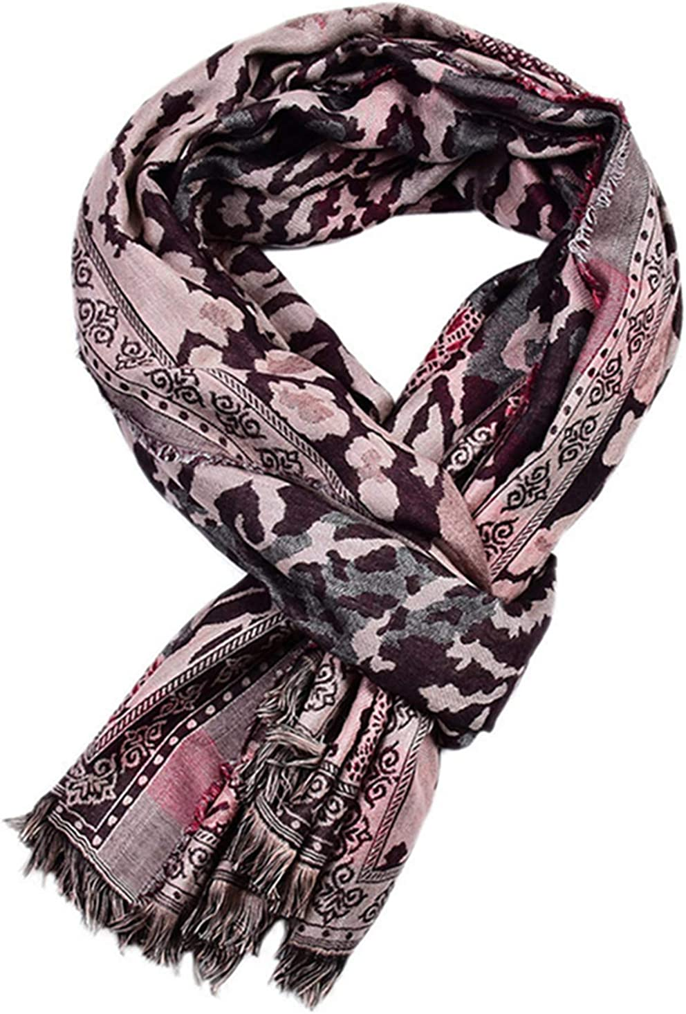 Runtlly Man scarf Lightweight shape Paisley Pattern Fashion Cotton-Linen Scarves Long Scarf for Man
