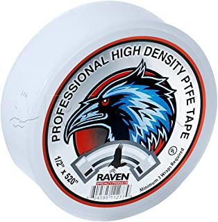 Raven TTC12520 PTFE Thread Seal Tape Professional Grade, High Density Premium PTFE, White 1/2 Inch x 520 Inch