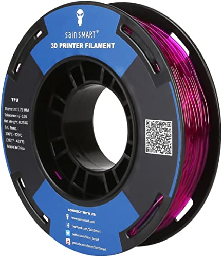 SainSmart TPU Filament 1.75 Purple Flexible TPU 3D Printing Filament 1.75 mm 250g Translucent Color Dimensional Accur...