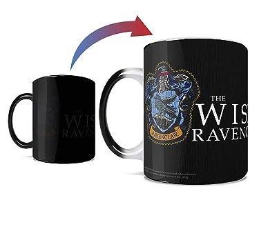 Harry Potter - Ravenclaw - Hogwarts Robe Design - One 11 oz Morphing Mugs Color Changing Heat Sensitive Ceramic Mug – Image Revealed When HOT Liquid Is Added!