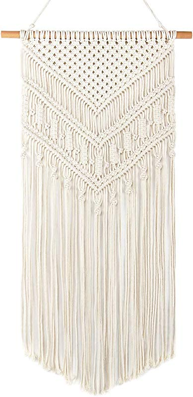 Taufey Macrame Wall Hanging Boho Chic Woven Tapestry For Apartment Dorm Room Home Decor 16 W X 33 L