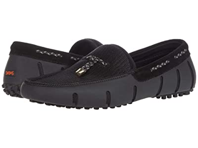 SWIMS Lux Tassel Loafer Driver (Black) Men