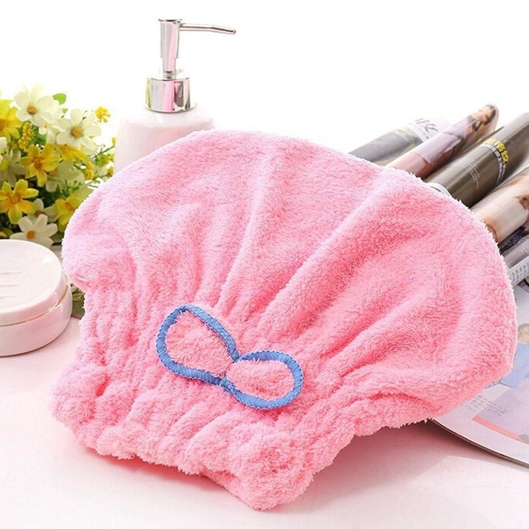 スプーン寛大な直感新着テキスタイル便利なドライマイクロファイバーターバンクイックヘアーハットラップタオル入浴