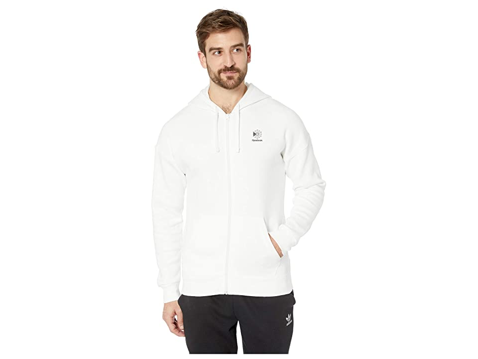 Reebok Full Zip Hoodie (White) Men