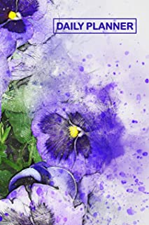 Daily Planner: Purple Lilac Pansy Floral Cover 2019 To Do List Planner with Checkboxes to Keep Your Organized