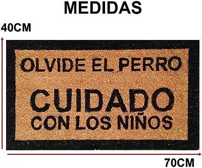parpyon® Zerbino Ingresso casa Divertente Vulcano cm 40x70 Tappeto Antiscivolo entrata scalino per Interno da Esterno tappeti Moderni in Cocco (Attenzione es)