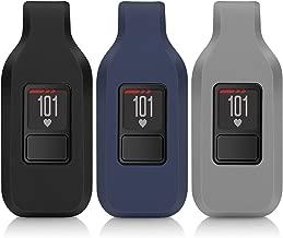 iBREK for Garmin Vivofit 3/jr/jr 2 Replacement Belt Clip for Kids Women Men(No Tracker)-Black&Navy&Gray