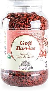 Imlak'esh Organics, Goji Berries (4-Pound Gallon), Superfruit — Paleo | Organic | No-Added Sugar | Gluten-Free | Non-GMO