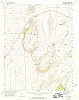 YellowMaps Lunar Crater NV topo map, 1:62500 Scale, 15 X 15 Minute, Historical, 1967, Updated 1970, 20.8 x 17 in