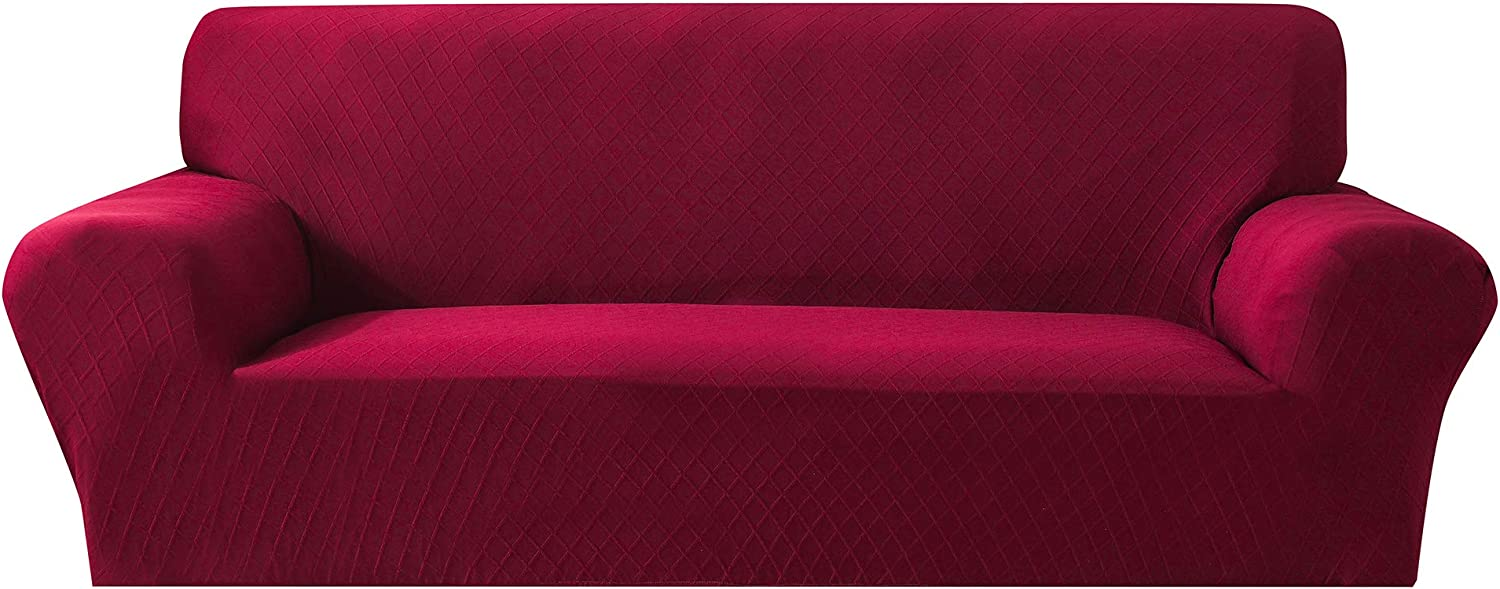 Stretch Polyester Sofa Slipcover Diamond Jacquard Rapid rise Animer and price revision 1-Piece Couch