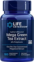 Life Extension Mega Green Tea Extract (Lightly Caffeinated) 98% Polyphenols, 100 Vegetarian Capsules