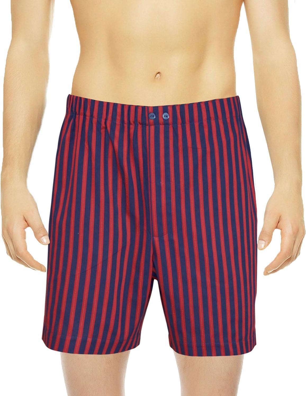 Men's Luxurious Woven Boxer & Sleep Short - Sateen Cotton Underwear Crafted in Europe