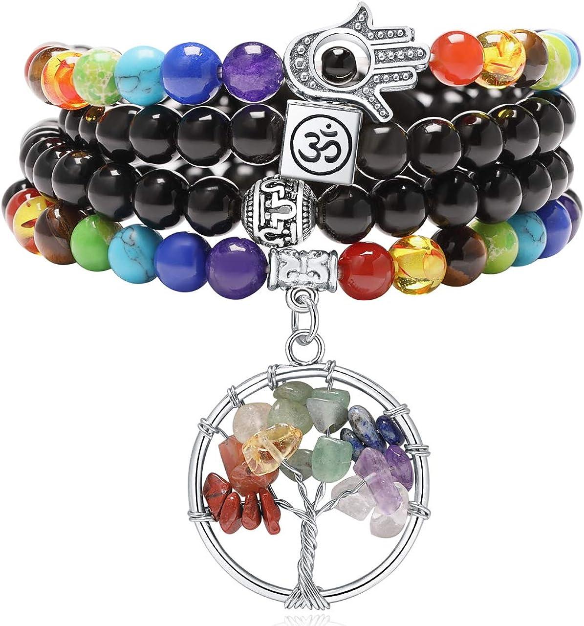 XIANNVXI 108 Mala Prayer Beads Wrap Daily Jacksonville Mall bargain sale Bracelet 7 Healing Cr Chakra