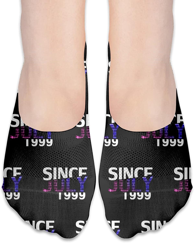 Since July 1999 22rd Birthday Gift No Show Socks Adult Short Socks Athletic Casual Crew Socks