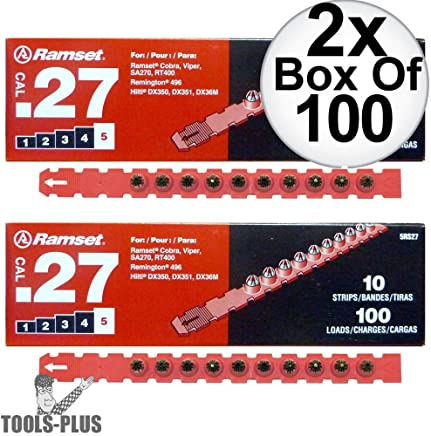 Ramset 4RS27 Box of 100#4Yellow 27 cal Strip Loads 12-Pack