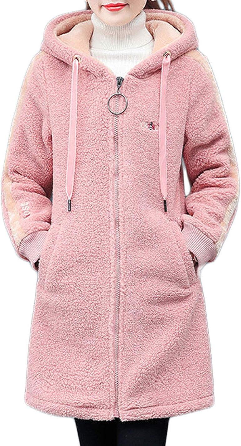 Jenkoon Womens Zip Up Faux Shearling Lined Raleigh Mall Max 77% OFF Ja Fleece Hooded Coat