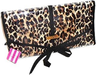 Victorias Secret Leopard Travel Beauty Cosmetics Toiletry Hanging Clutch Bag