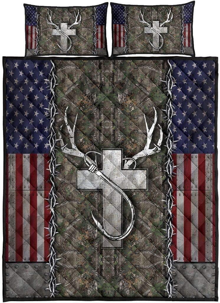 Kantee Free shipping on posting reviews Christian Fishing Under blast sales and Hunting Deer Cross Hook Fl American