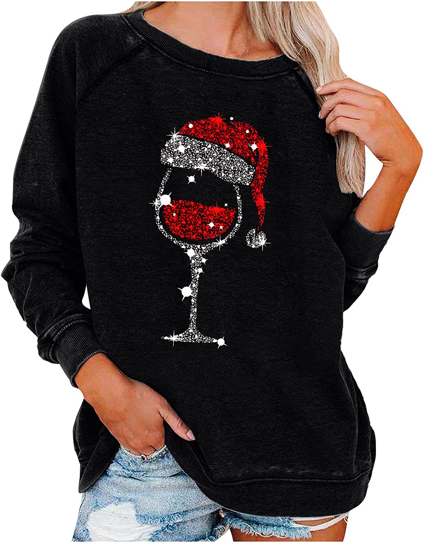 Kanzd Max 55% OFF Christmas Sweatshirts for Max 44% OFF Women Crewne Long Sleeve Fashion