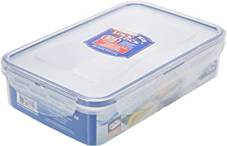 Lock & Lock HPL816C Classic Stackable Airtight Rectangle Food Container, 800ML with Divider