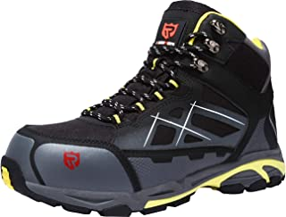 LARNMERN Work Boots for Men S1P Safety Boots SRC Steel Toe Non Slip Lightweight Reflective Comfortable Boots
