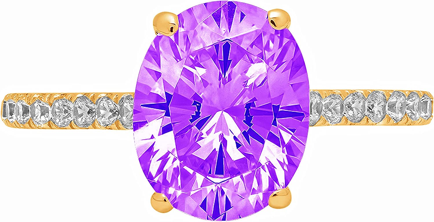 1.83ct Outlet ☆ Free Shipping Brilliant Oval Cut Solitaire Purple Free shipping New with Natural accent A