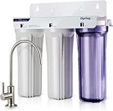 iSpring US31 3-Stage Under Sink High Capacity Tankless Drinking Water Filtration System-Includes Sediment 2X CTO Carbon Block Filters (Newest Version)