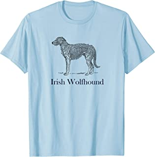 Irish Wolfhound Celebration T-shirt Black Image Text