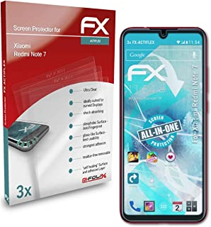 atFoliX Skärmskydd är kompatibel med Xiaomi Redmi Note 7 Film, ultraklart och flexibelt FX Skärmskyddsfilm (3X)