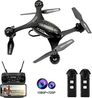 HSCOPTER 1080P Camera Drone ,WiFi FPV Drone with Camera for Adults Kids, RC Toy Quadcopter with Altitude Hold,One Key Take Off/Landing ,Lost-Control Protection,Ideal Present Gift for Birthday