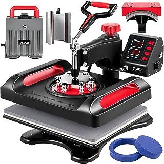 VEVOR Presse à Chaud Combinée 6 en 1 Machine Impression Textile Rouge 29x38 cm Machine de Transfert Numérique Presse de Ch...