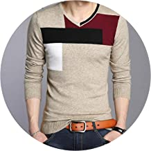 Ablaze Jin Soft Warm Knitted Cashmere Sweater Men Christmas Sweater Casual V-Neck Pullover