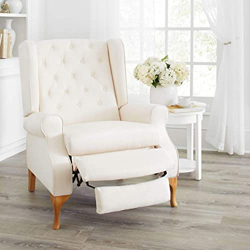 BrylaneHome Queen Anne Style Tufted Wingback Recliner