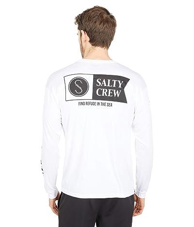 Salty Crew Alpha Long Sleeve Rashguard (White) Men
