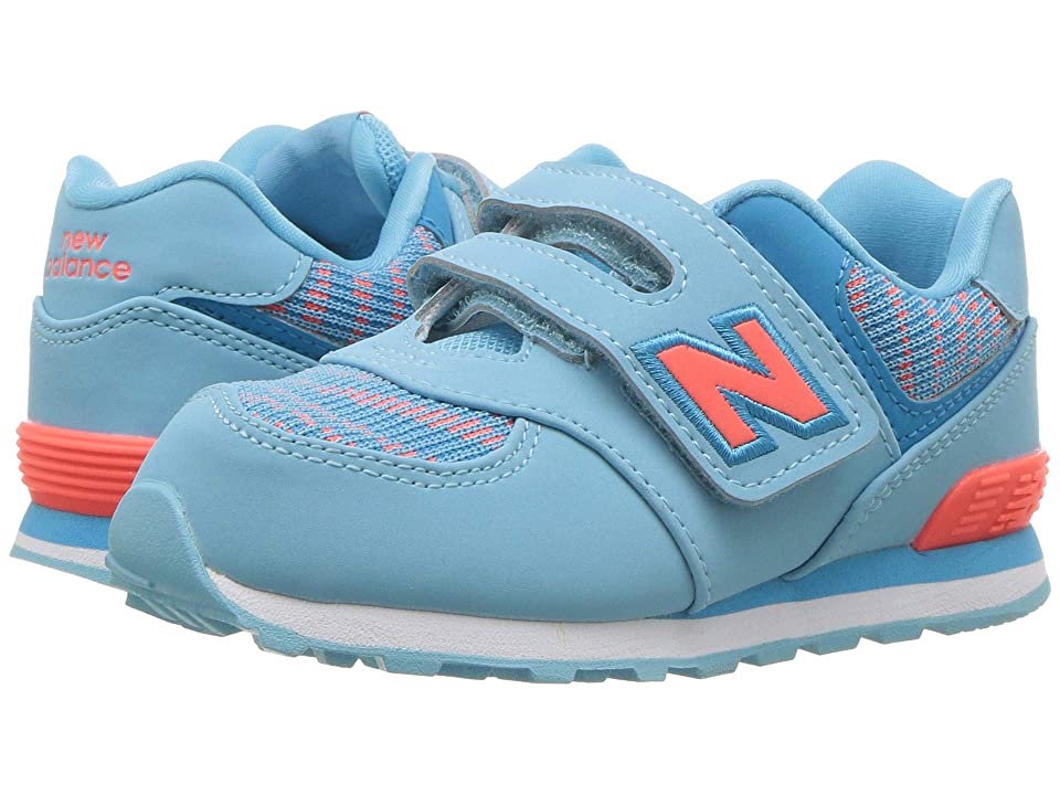 New Balance Kids IV574v1 (Infant/Toddler) (Enamel Blue/Dragonfly) Girls Shoes