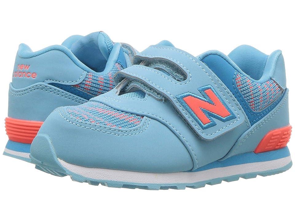 New Balance Kids IV574v1 (Infant/Toddler) (Enamel Blue/Dragonfly) Girls Shoes