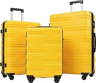Flieks Luggage Set 3 Piece with TSA Lock Light Weight Hardside Expandable Spinner Suitcase