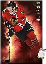 Trends International NHL Chicago Blackhawks-Duncan Keith Premium Mount Bundle Wall Poster, 14.725