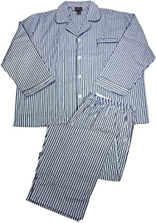 Botony 500 - Mens Big Long Sleeve Cotton Flannel Pajamas