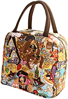 Jessie storee Cold Insulation Lunch Bag Cartoon Students Office Worker Waterproof Cooler Bento Box Portable Oil-Proof Rice Meal Rice Bag Tote Box Picnic Hiking Beach Fishing,