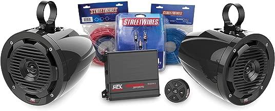 MTX MOTORSPORTS BORVKIT1 Bluetooth Tower 2-Speaker & Amplifier Off-Road Motorsports Package