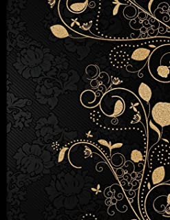 Golden Decorative Journal: Lined Journal Notebook To Write In (Large 8.5