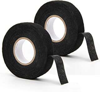 Adecco LLC 2 Rolls Wire Loom Harness Tape, Wiring Harness Cloth Tape, Adhesive Fabric Tape for Automobile 15m/19mm