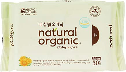 Love Springs Natural Organic Original Plain Baby Wet Wipes, Travel Pack (30 Sheets X 10 Packs)