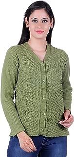 eWools Women Ladies Girls Winter Wear Woolen Button Top Cardigans Sweaters (Self Cardigans)