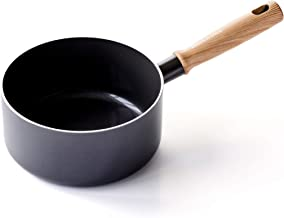 GreenPan CC002863-001 Hudson Healthy Ceramic Nonstick, Saucepan, 3QT, Black