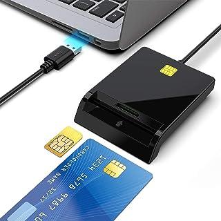 「お客様に恩返し新型バージョン」Rocketek接触型ICカードリーダー・ライター e-Tax(イータックス)での確定申告や住基カード&マイナンバーカード対応 USB接続式スマートカード+ SIMカードリーダ Windows10/ 8/7/X...